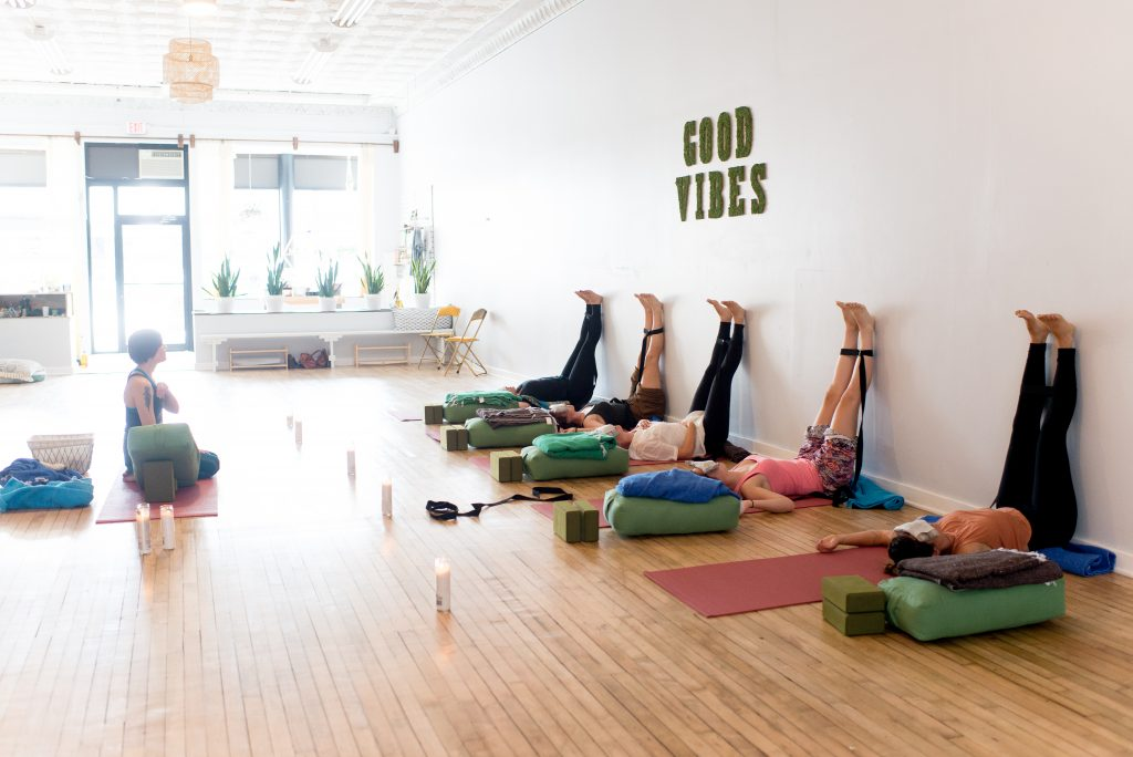 yoga, restorative yoga, yoga studio, yoga teacher